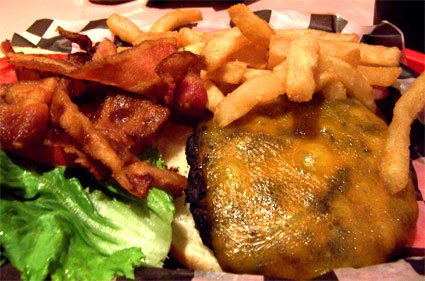 Big Al's Bacon Cheeseburger and Fries