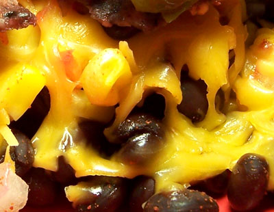 Extreme Cheese-and-Bean Close-up!