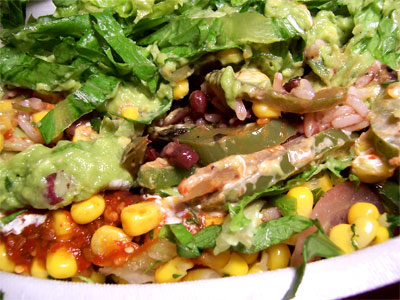 Vegetarian Burrito Bowl from Chipotle