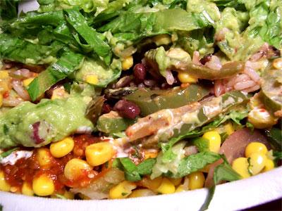 Vegetarian Burrito Bowl from Chipotle