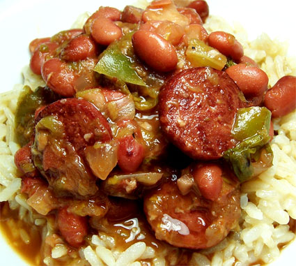 Red Beans and Rice with Turkey Sausage